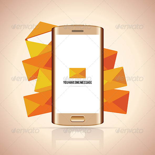 GraphicRiver Smartphone Message 6299582
