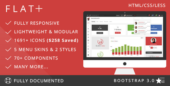 ThemeForest FLAT PLUS Web App & Admin Panel Template 6299825