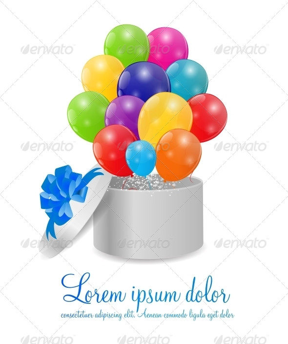 GraphicRiver Color Glossy Balloons Background 6300367