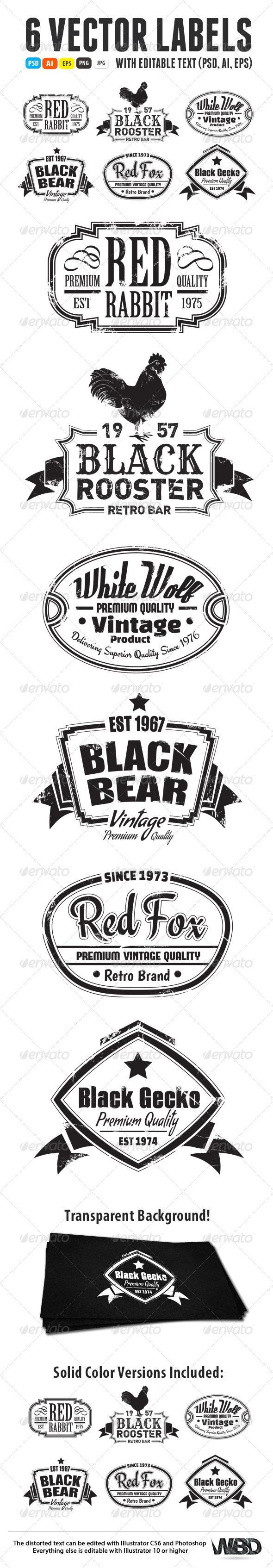 GraphicRiver Vintage Labels 6300457