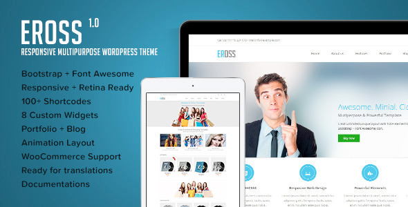ThemeForest Eross Responsive Multipurpose WordPress Theme 6300864
