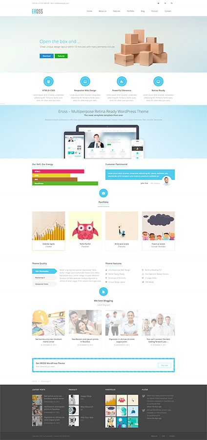 Eross - Responsive Multipurpose WordPress Theme