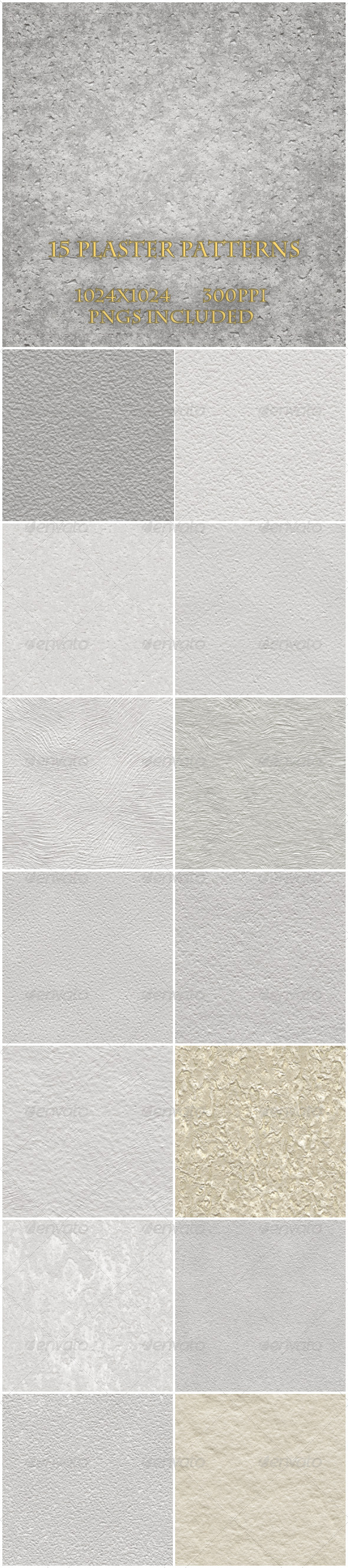 GraphicRiver 15 Plaster Textures 6300881