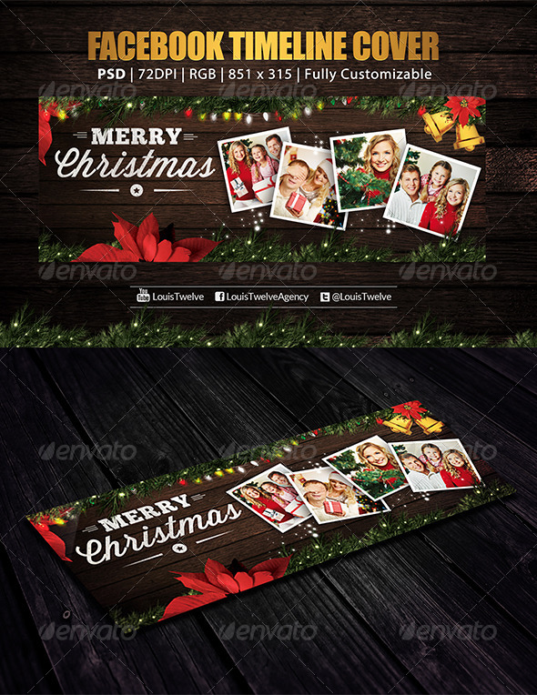 GraphicRiver Family Christmas Facebook Cover 6300890