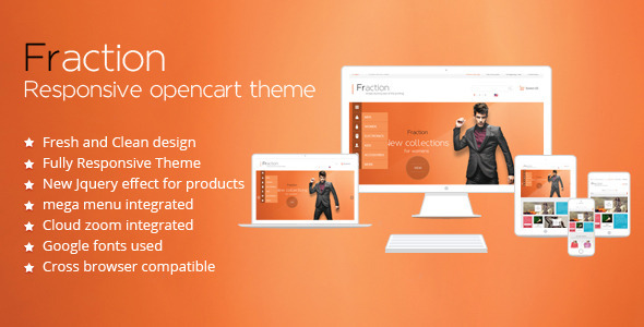 ThemeForest Fraction Responsive Opencart Theme 6212142