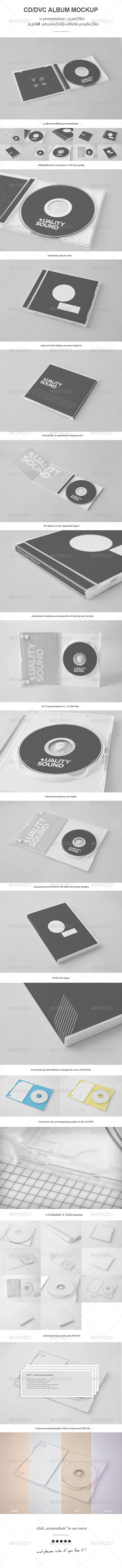 CD/DVD Album Mock-up - GraphicRiver