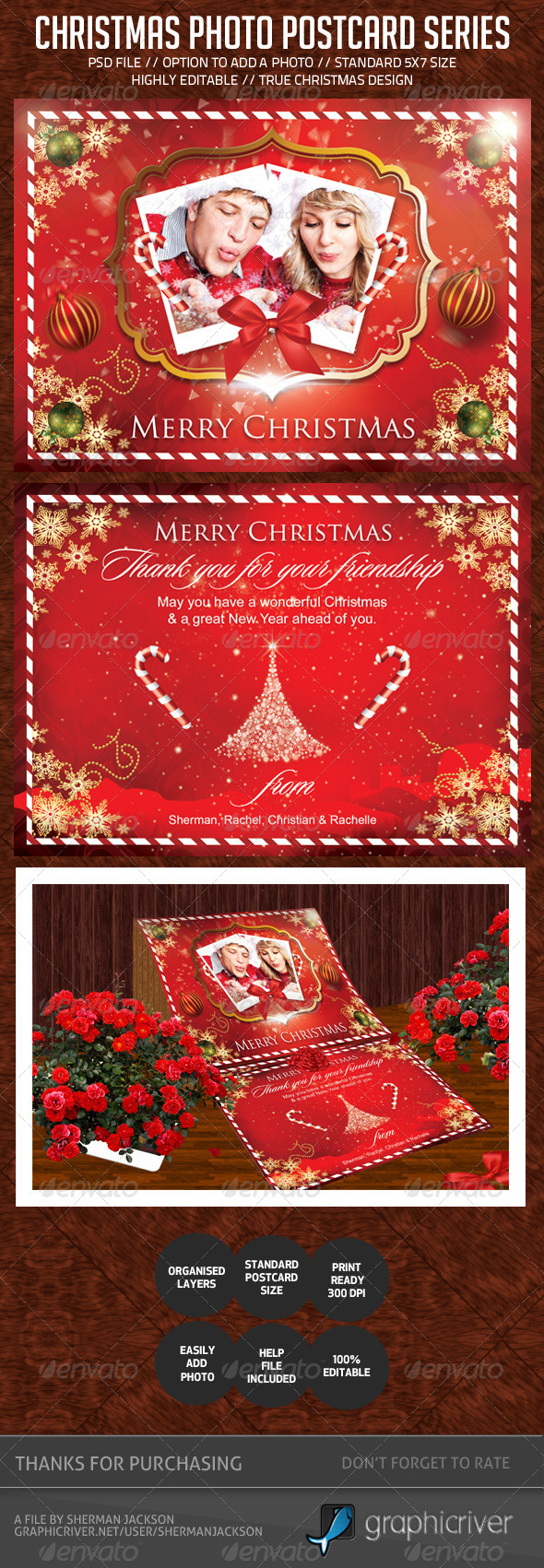 GraphicRiver Christmas Holiday Photo Postcard 6284967