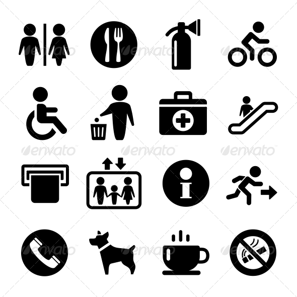 GraphicRiver Vector International Service Signs Icon Set 6301269