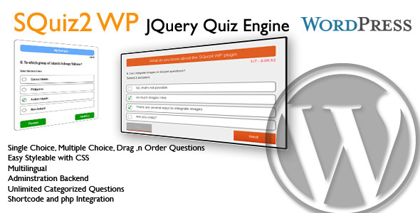 CodeCanyon WP SQuiz2 JQuery Quiz Engine 6301354