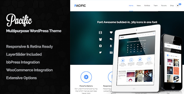 Pacific - Responsive & Retina Ready All in One