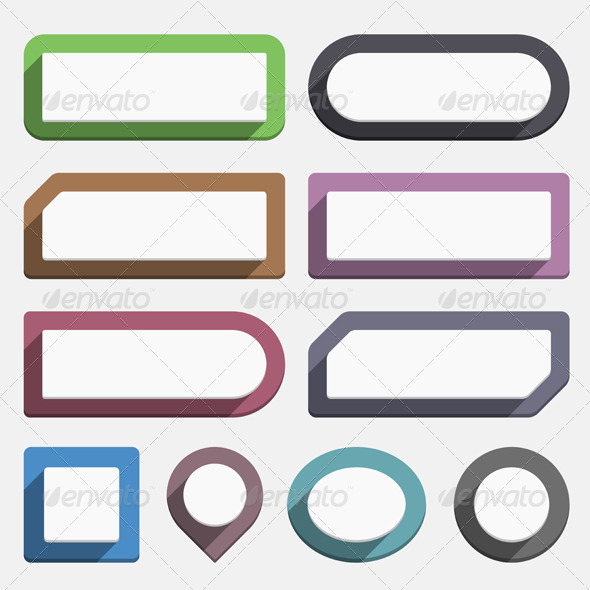 GraphicRiver Flat Buttons 6302154