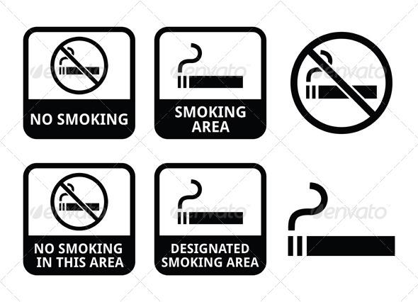 GraphicRiver No Smoking Area Icons Set 6302492