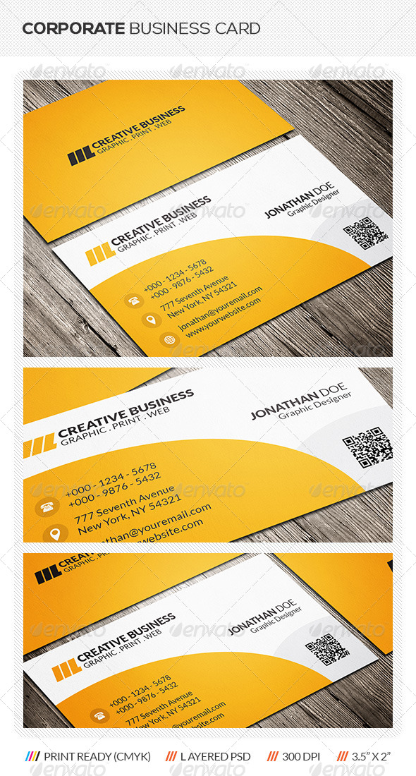 GraphicRiver Corporate Business Card 6302577