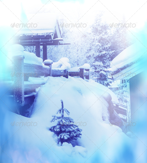 Winter resort - Stock Photo - Images