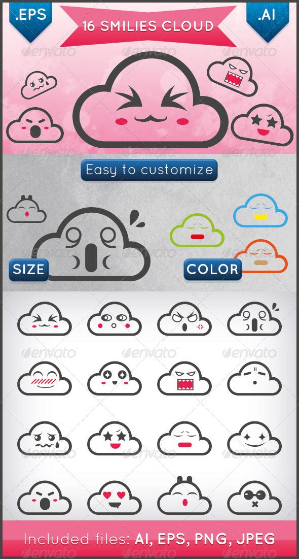 GraphicRiver Smilies Cloud 6303609
