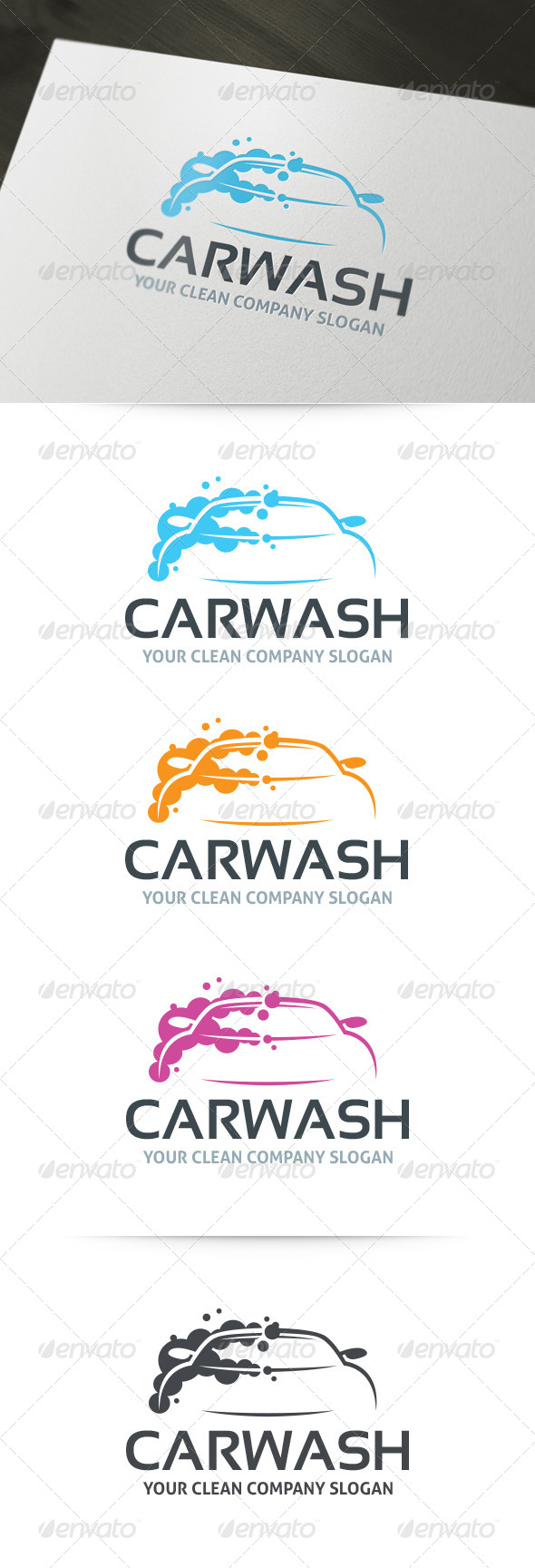 GraphicRiver Car Wash Logo Template 6303872