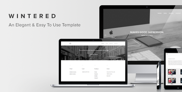 Wintered - An Elegant and Easy To Use One-Page Template - Creative Site Templates