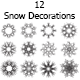 12 Snow Decorations  - GraphicRiver Item for Sale