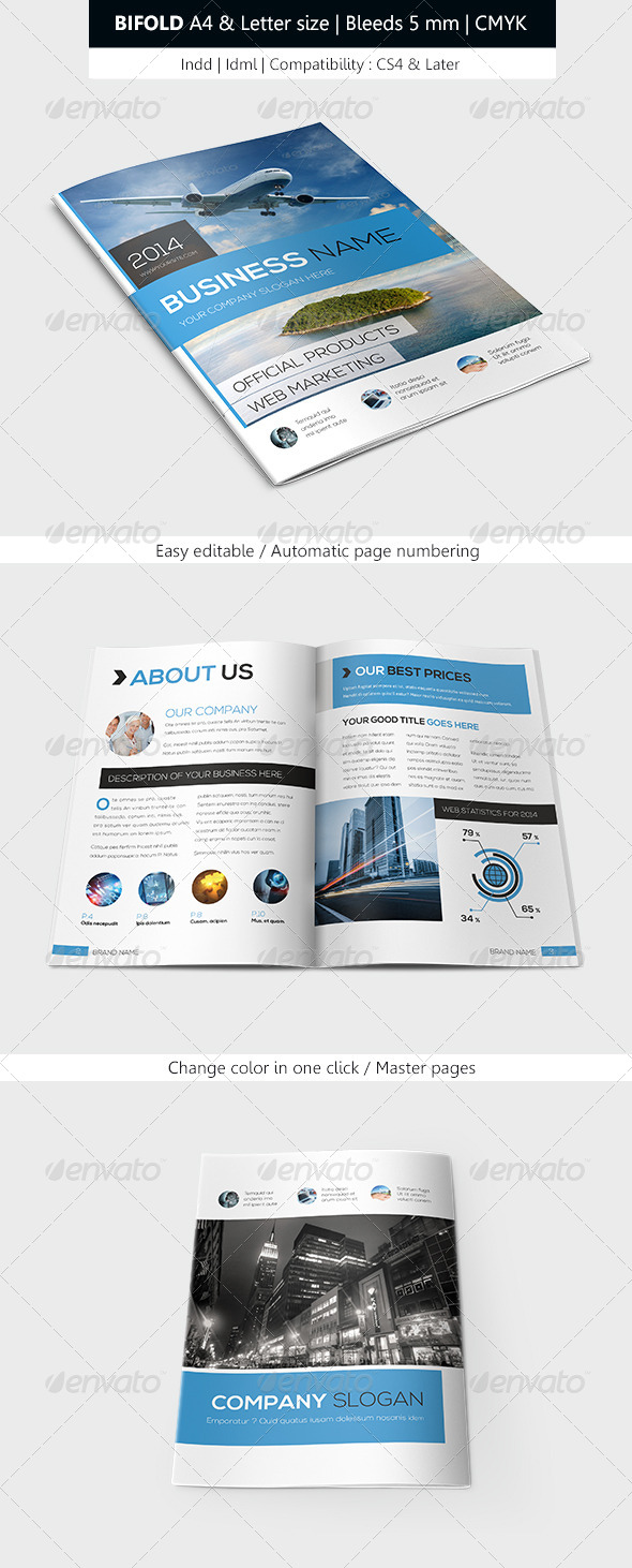 GraphicRiver Bifold Business Brochure Template 6268441