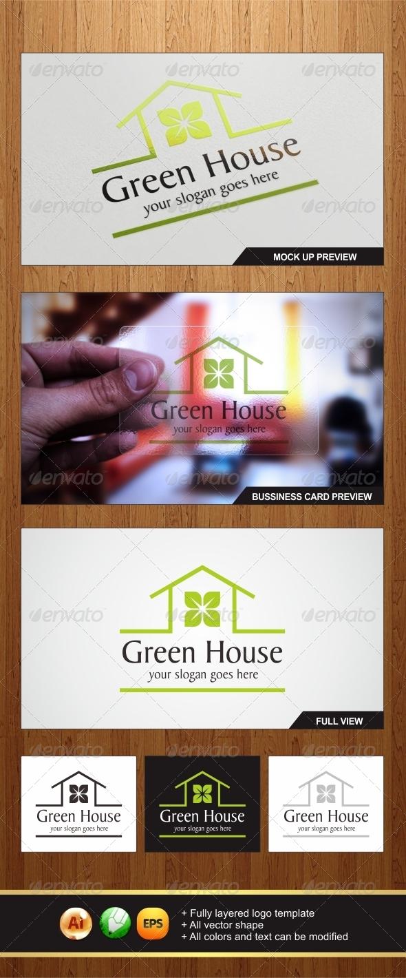 GraphicRiver Green House Logo 6304227