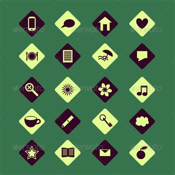 GraphicRiver Icons Set 6304671