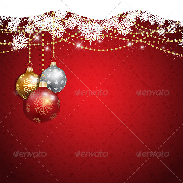 GraphicRiver Christmas Baubles Background 6304758