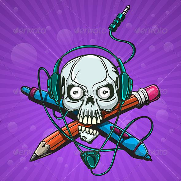 GraphicRiver Skull Artist 6304759