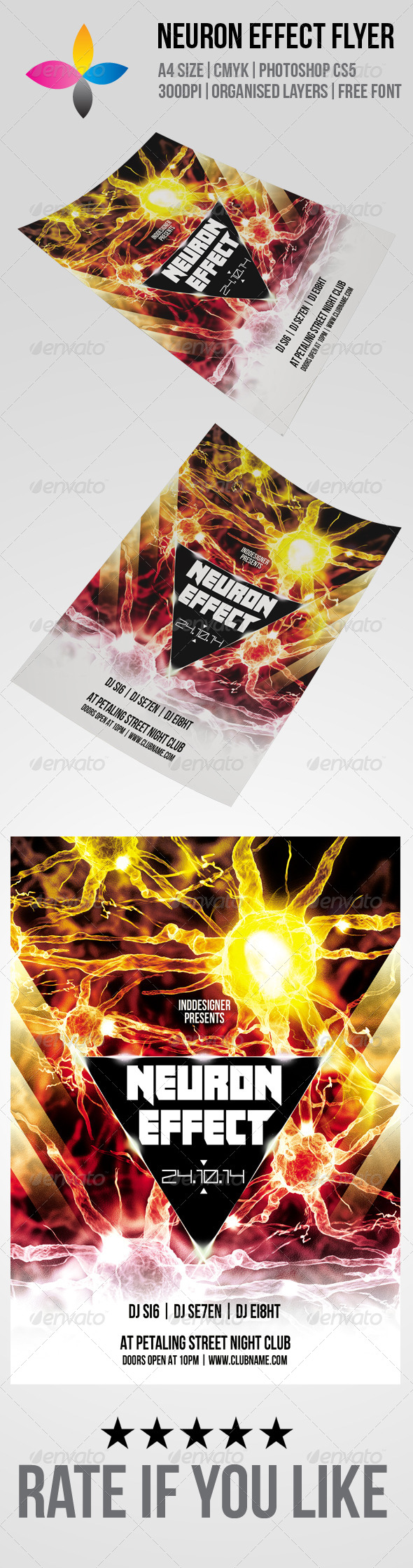 GraphicRiver Neuron Effect Flyer 6298511