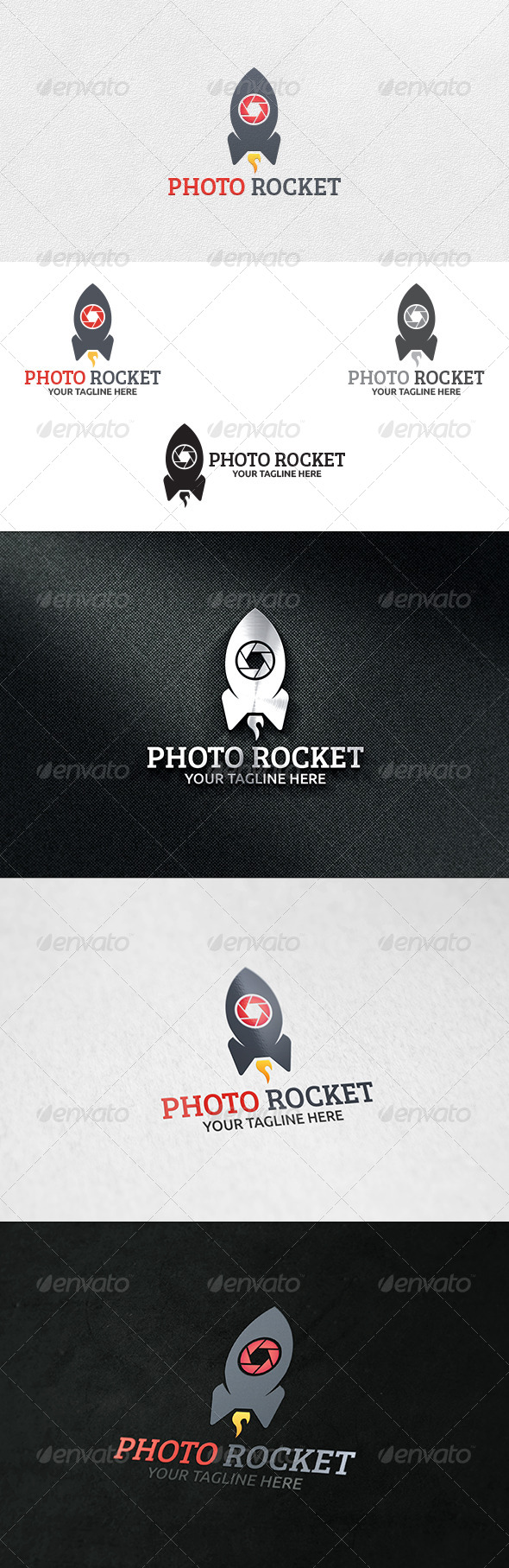 GraphicRiver Photo Rocket Logo Template 6304774
