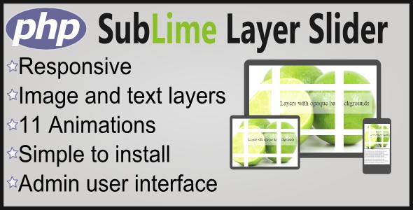 CodeCanyon Sublime Layer Slider Responsive PHP Plugin 6242651