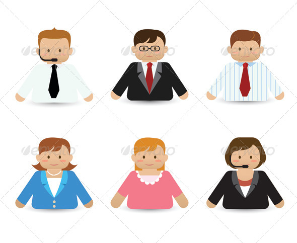 GraphicRiver Set of Business People Icons 6305283