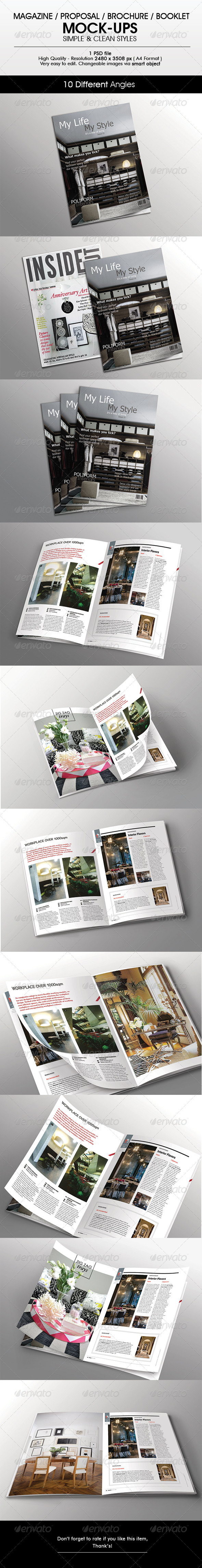 GraphicRiver Magazine Brochure Mock-Up 6305429