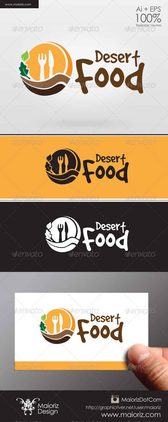 GraphicRiver Desert Food Logo 6304900