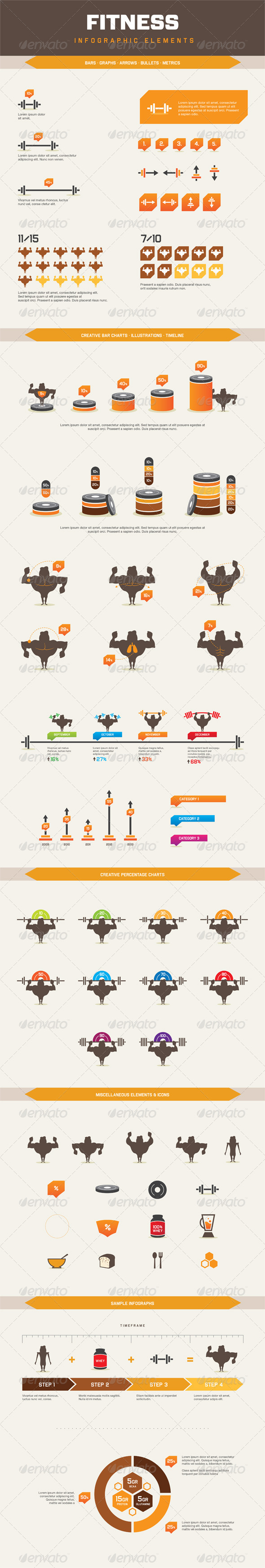 GraphicRiver Infographic Elements Fitness 6306576