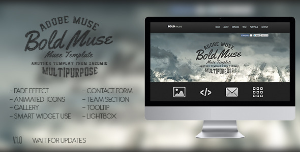ThemeForest Bold Muse Parallax Template 6246883