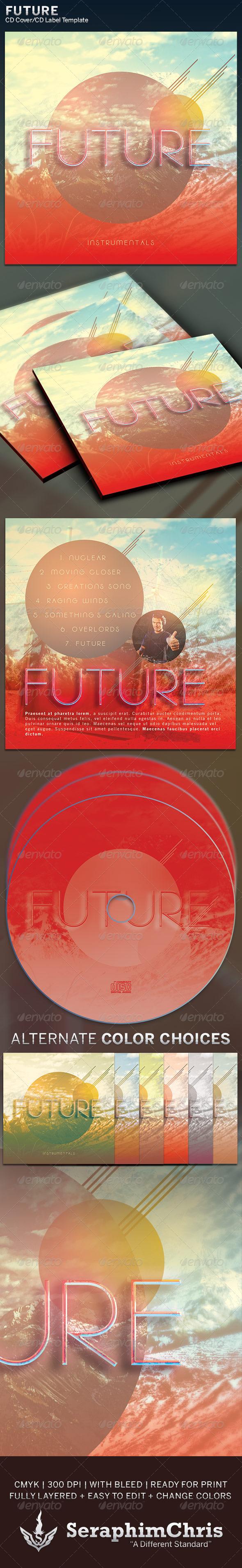 GraphicRiver Future CD Cover Artwork Template 6306699
