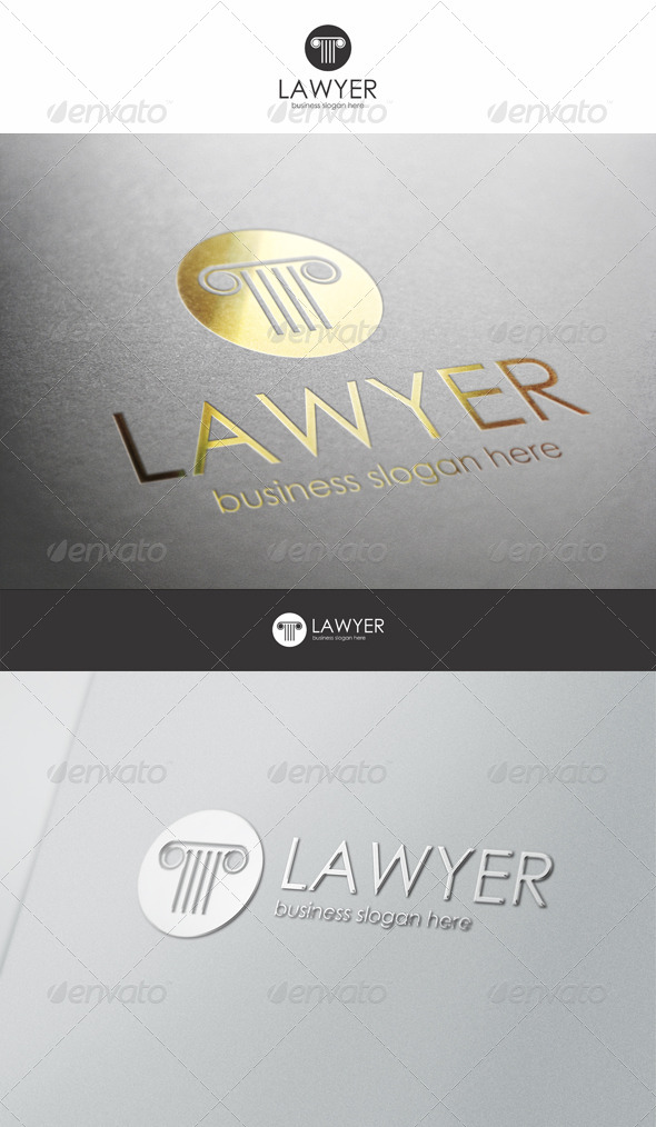 Lawyer Logo - Buildings Logo Templates