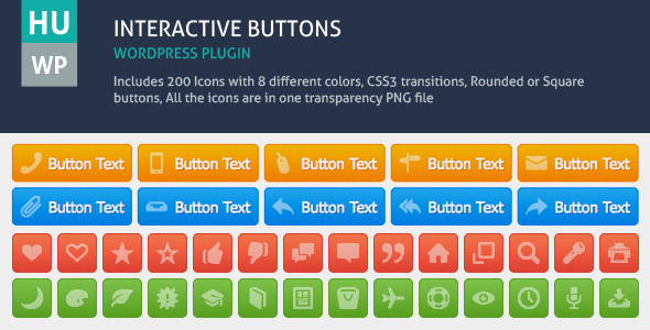Interactive Buttons Wordpress Plugin - CodeCanyon Item for Sale