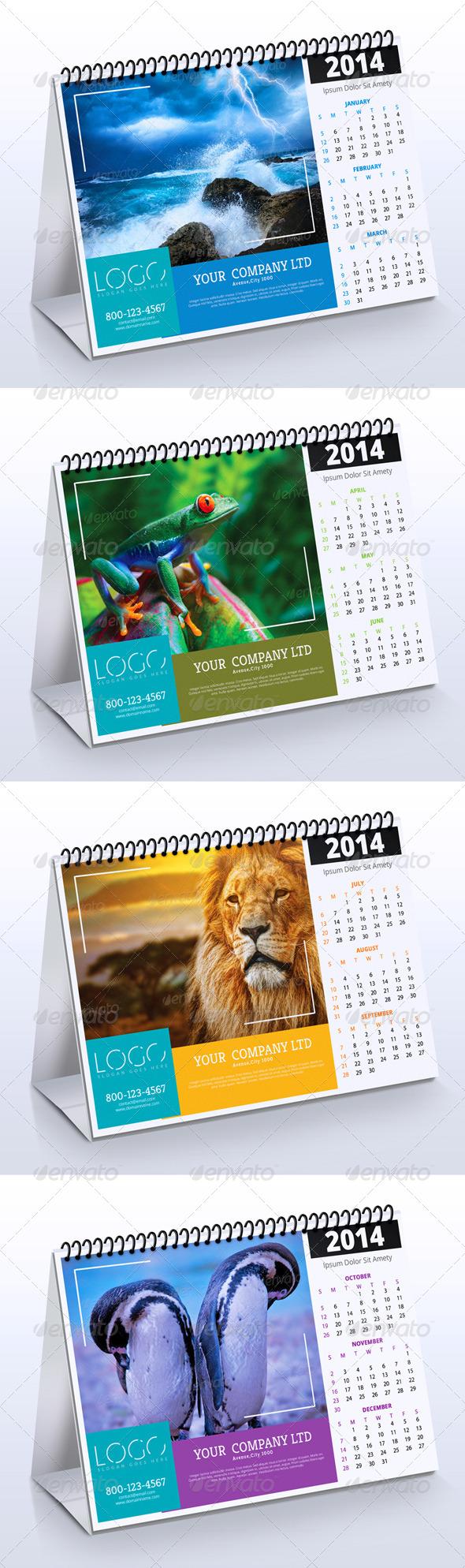 GraphicRiver 2014 Desk Calendar Vol.2 6307146