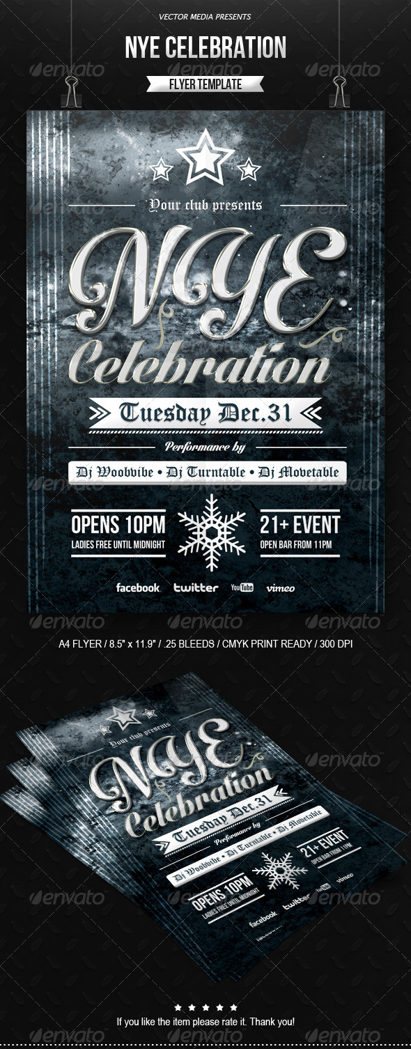 GraphicRiver NYE Celebration Flyer 6307335