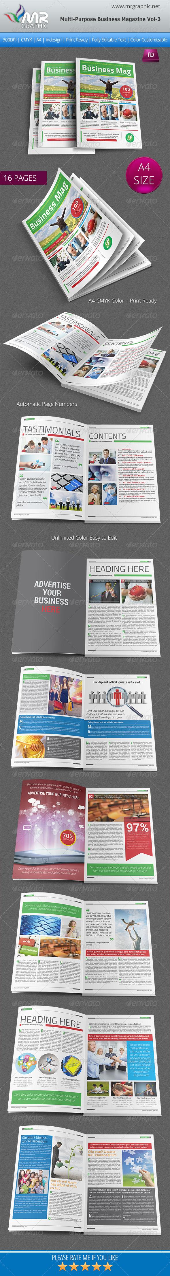 GraphicRiver Multipurpose Business Magazine Vol 3 6307362