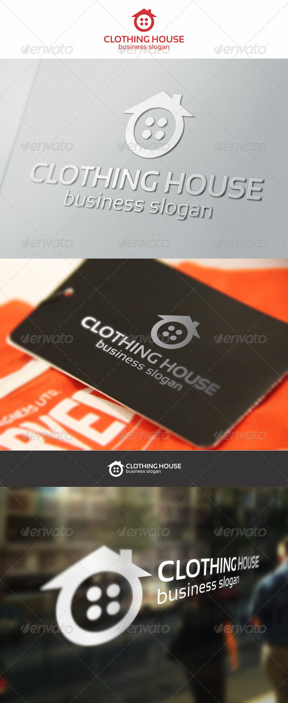 GraphicRiver Clothing House Home Logo 6307477