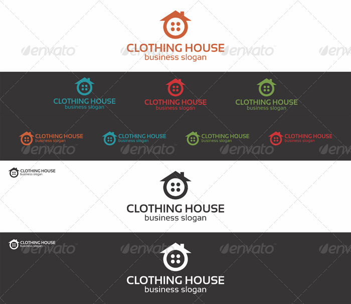 Clothing House Home Logo