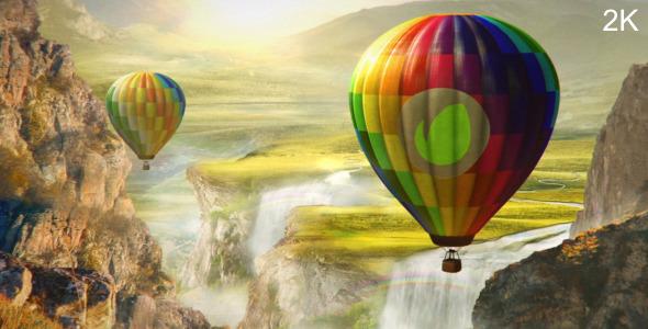 colourful world   hot air balloon logo by neuronfx videohive
