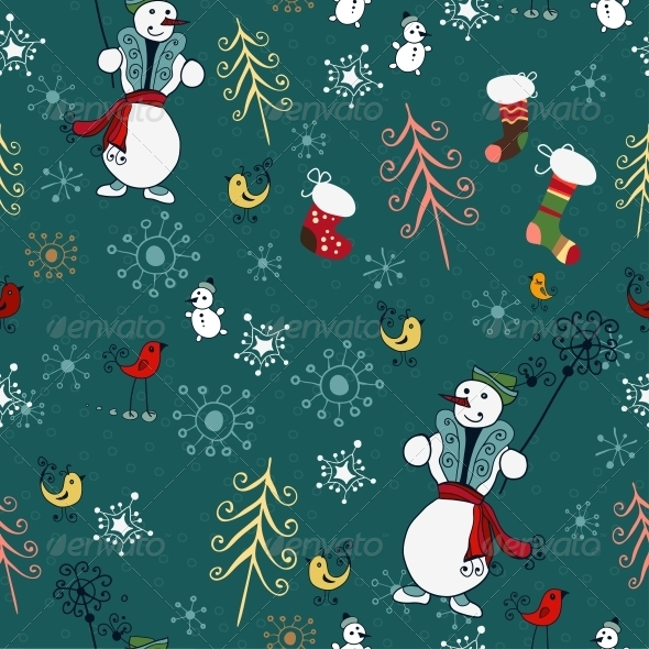 GraphicRiver Christmas Pattern 6307830