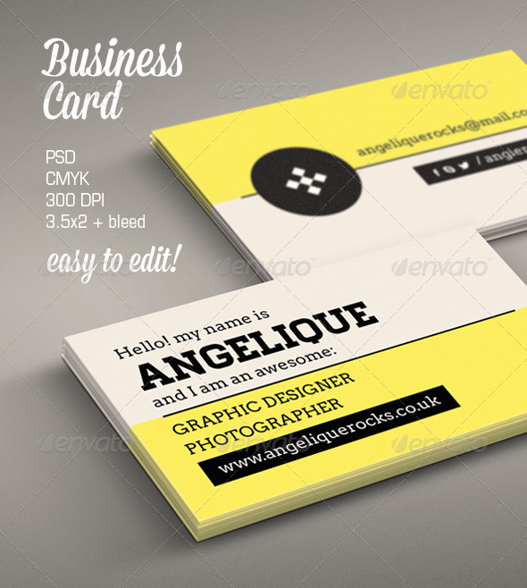 GraphicRiver Modern Business Card 6307857