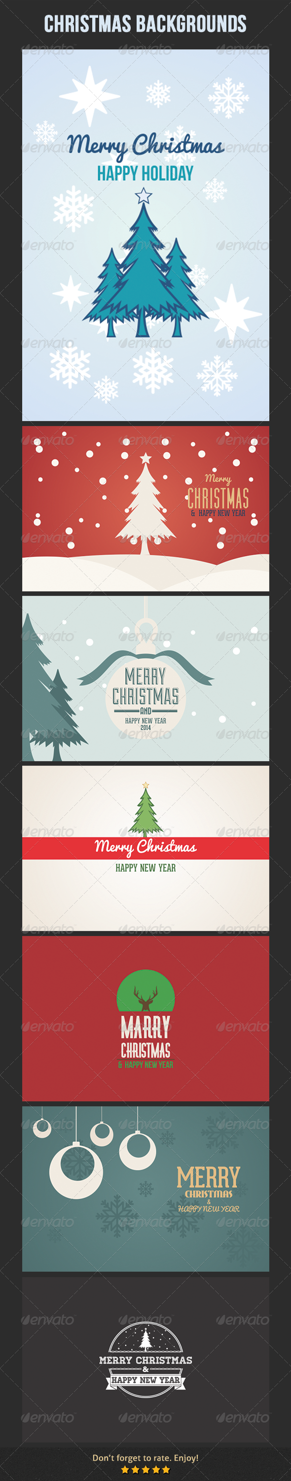 GraphicRiver Christmas Backgrounds 6307860