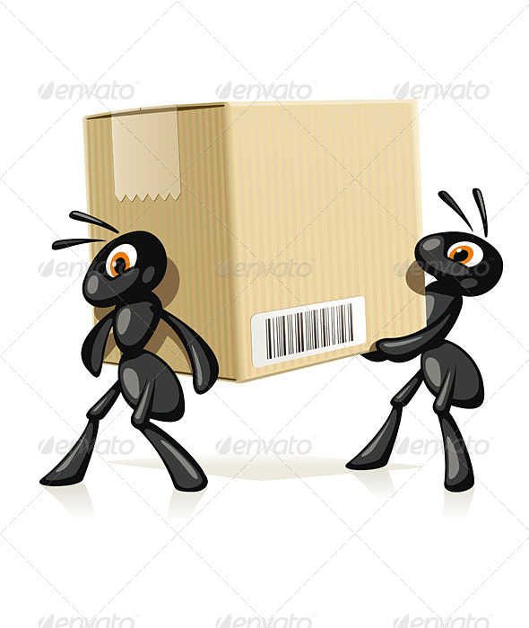 GraphicRiver Ants Delivery 6307861