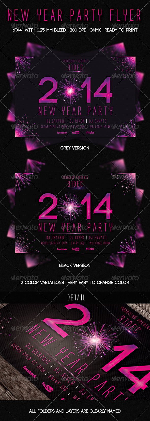 GraphicRiver 2014 New Year Party Flyer 6307945
