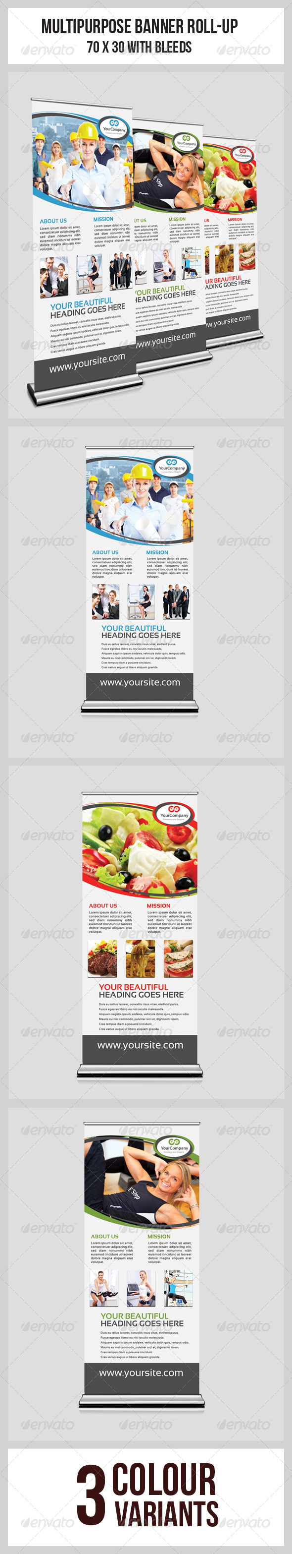 GraphicRiver Multipurpose Business Roll-Up 6308833